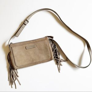 Lucky Brand | Suede Fringe Small crossbody bag